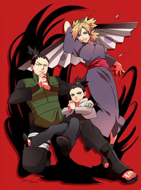 Shikamaru, Temari and Shikadai