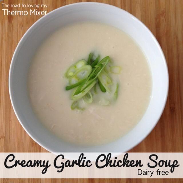 Creamy Garlic Chicken Soup