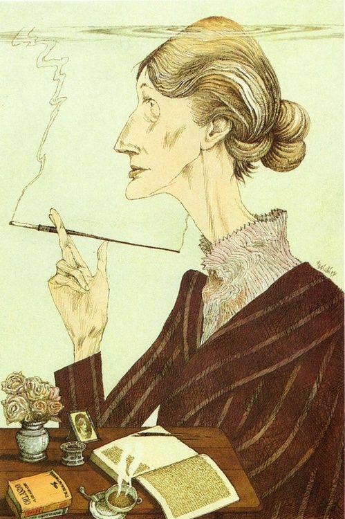 Tullio Pericoli : Virginia Woolf, 1987