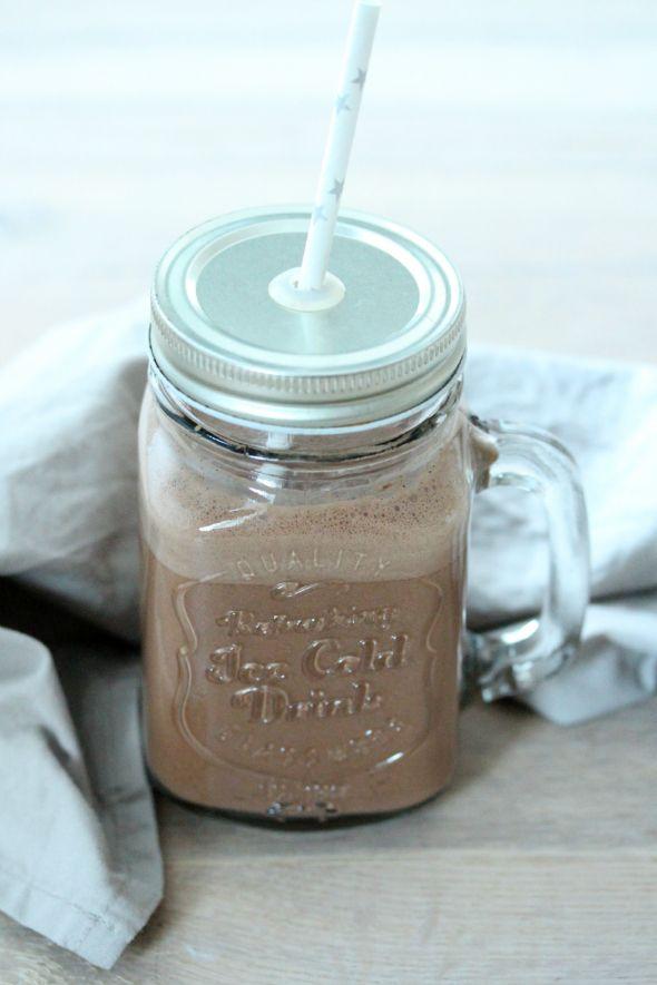 Gezonde, warme chocolademelk