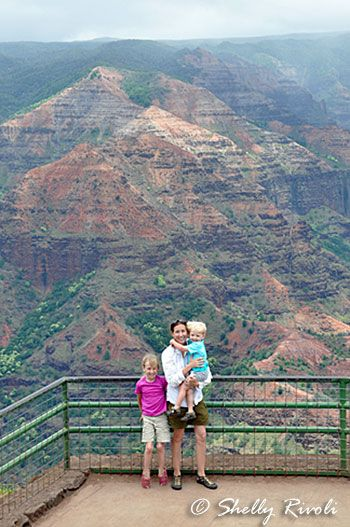 Waimea Canyon overlook - worth the day trip for your toddler? ;-) My tips in this post will help