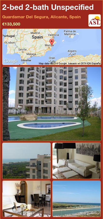 2-bed 2-bath Unspecified in Guardamar Del Segura, Alicante, Spain ►€133,500 #PropertyForSaleInSpain