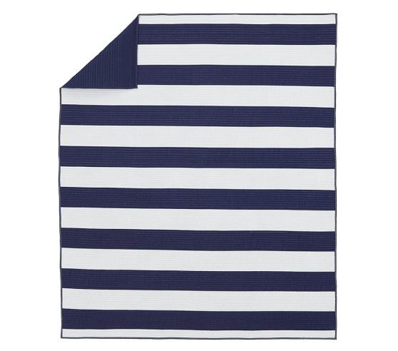 Rugby Stripe Quilted Bedding Pottery Barn Kids