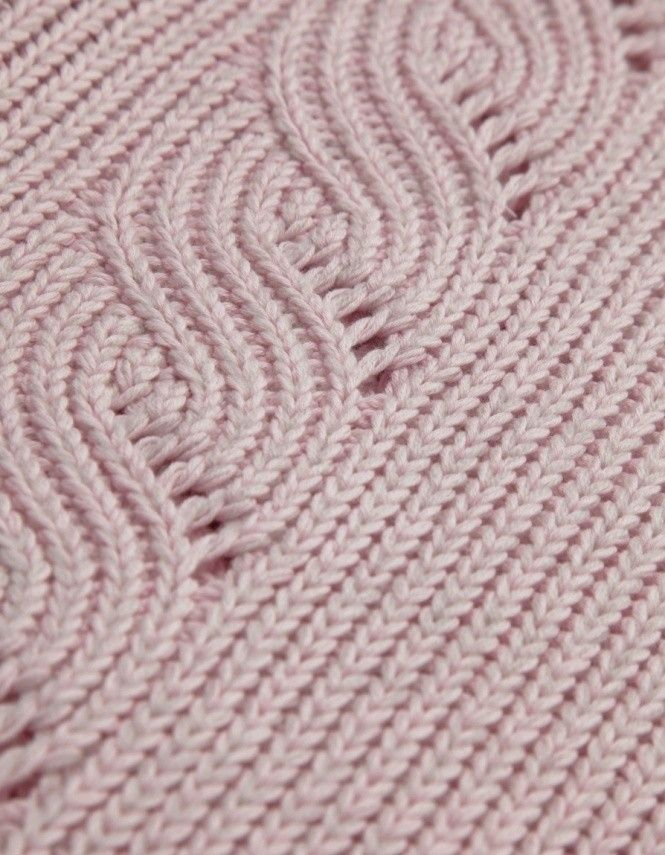McQ Alexander McQueen Light Pink Cable Knit Tunic