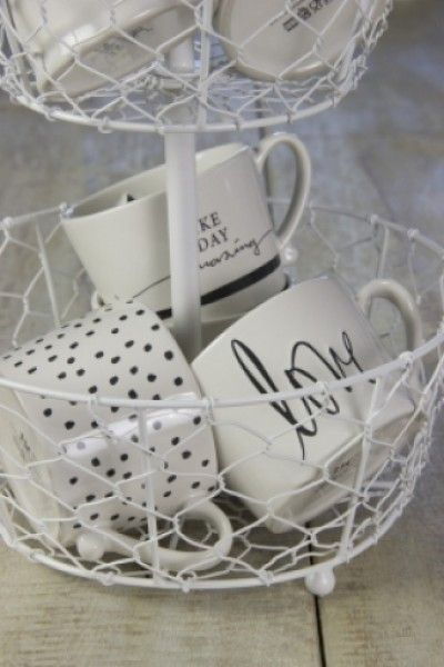 Bastion Collections Mug White/Love in Black