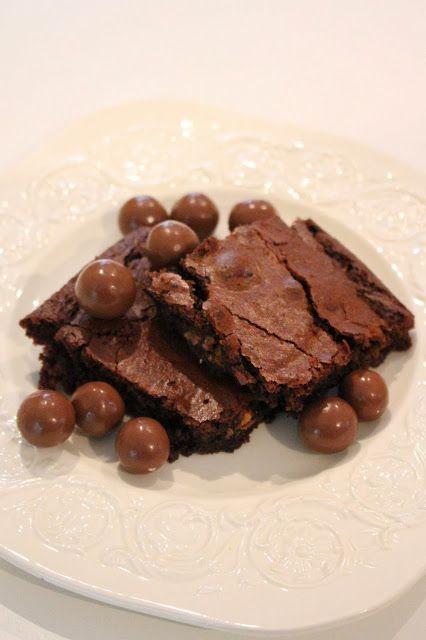My Little Kitchen: Malteser brownie.  LUV malted milk balls.