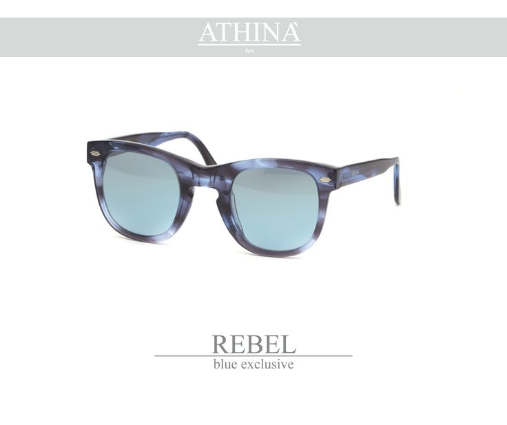 Mod. REB0606M04 A storic sunglasses re-visited in a modern perspective with blue exclusive frame to be always cool and up with times. Acetate of cellulose here is a must. Realized with mirror gradient blue lenses.