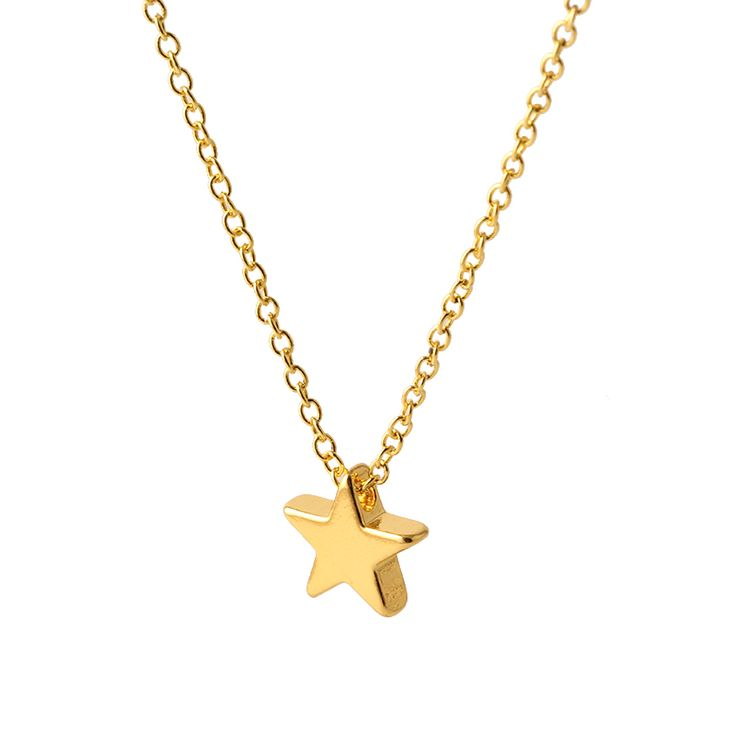 Gold & silver Optional Pentagram Girl Short Chain Short star Necklaces & Pendants Jewelry Wholesale for Women N538 N539
