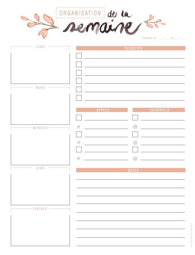 Ce bundle comprend 5 outils d'organisation :  Un planificateur quotidien Un planificateur hebdomadaire Un planificateur de menu Une to-do list Une Bucket List estivale  (Voir plu…