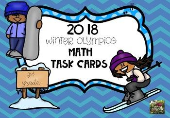 Winter Olympic Sport Themed Task Cards. 20 different task cards in both color or printer friendly version of Black and white. Task Cards include multiplication, subtraction, addition, word problems, elapsed time, and comparing 3 digit numbers. This product includes: 20 Task Cards (both color