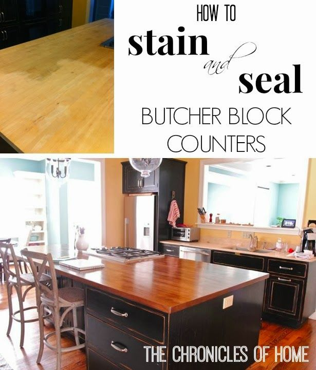 How to stain and seal butcher block counters by The Chronicles of Home