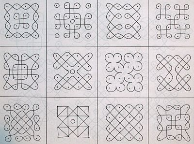 Simple Geometric Patterns | Few more everyday rangolis: http://www.kuzhalmannamagraharam.info ...