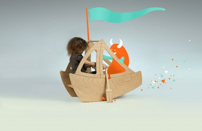 The Kattuska Boat is a swing with two seats