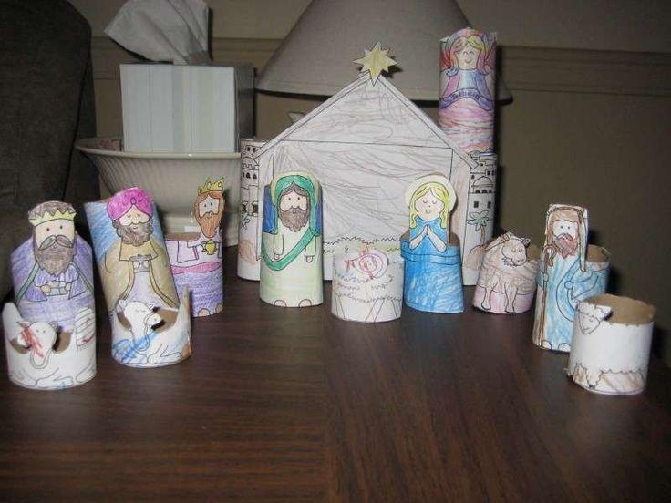 Presepe di cartone: idee fai da te - Presepe di cartone per bambini