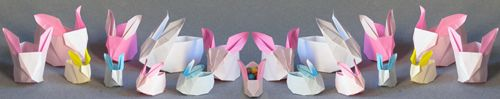 origami rabbit boxes - have to make 30 for daughter's birthday treat. Help :-)
