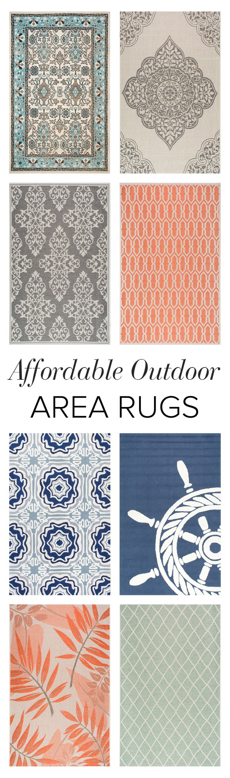 Decorate your patio or backyard with an outdoor rug! Shop on Rugs USA to find variety, durability, and amazing savings of up to 80% off!