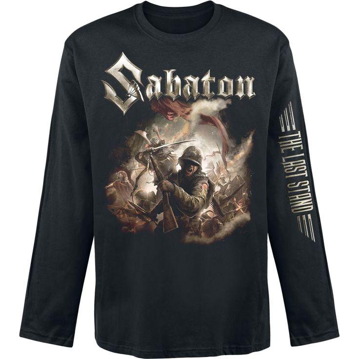 """Maglia uomo a maniche lunghe nera """"The Last Stand"""" dei #Sabaton."""