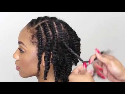 Natural Hair Tutorial- How To Do A Two Strand Twist – YouTube