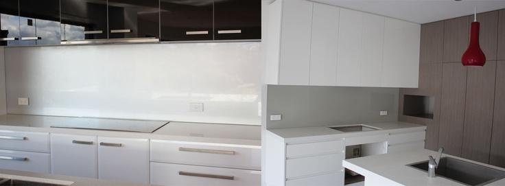 Coloured glass kitchen or bathroom splashbacks