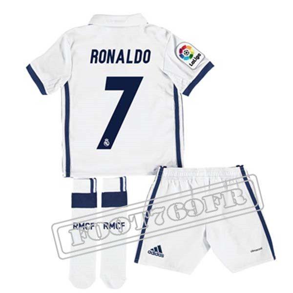 Personnalise Maillot De Ronaldo 7 Real Madrid Enfant Blanc 2016 17 Domicile : La Liga