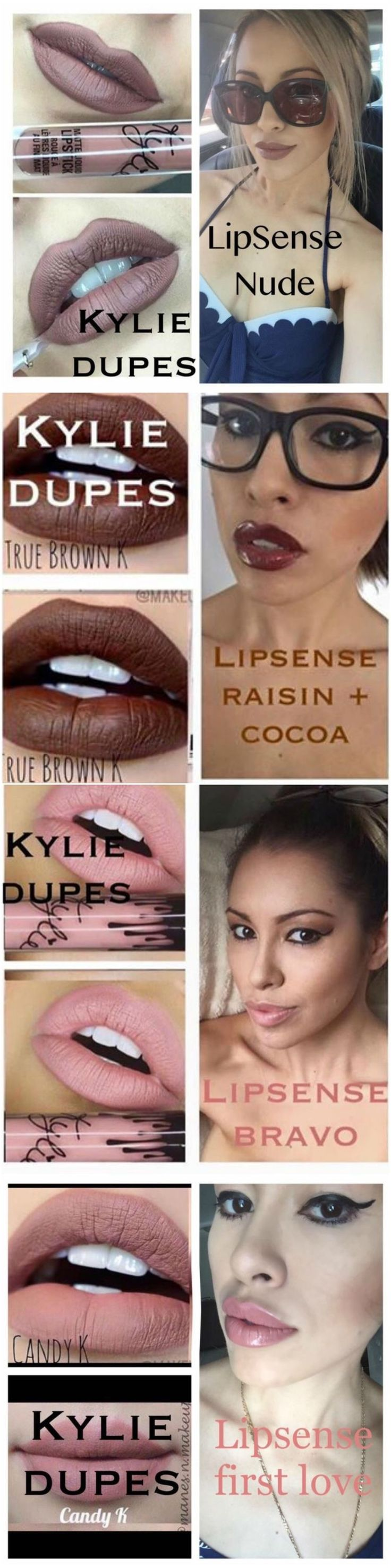 Kylie dupes with LipSense