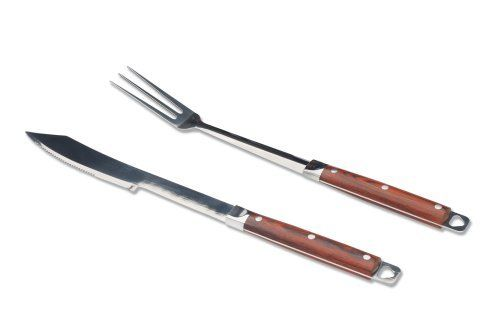 Grillfinity 210200 2-Piece Pakka Wood Barbecue Cutlery Set by Grillfinity. Save 31 Off!. $24.24. Includes 3-pronged fork and serrated-edge knife. Professional quality and everyday durability. Solid stainless steel construction with polished finish. Attractive wood-grain aluminum carrying case. Attractive 2-piece barbecue cutlery set with pakka wood handles. Amazon.com Product Description                The Grillfinity 2-Piece Barbecue Cutlery Set lets you slice juicy meats and succulent…