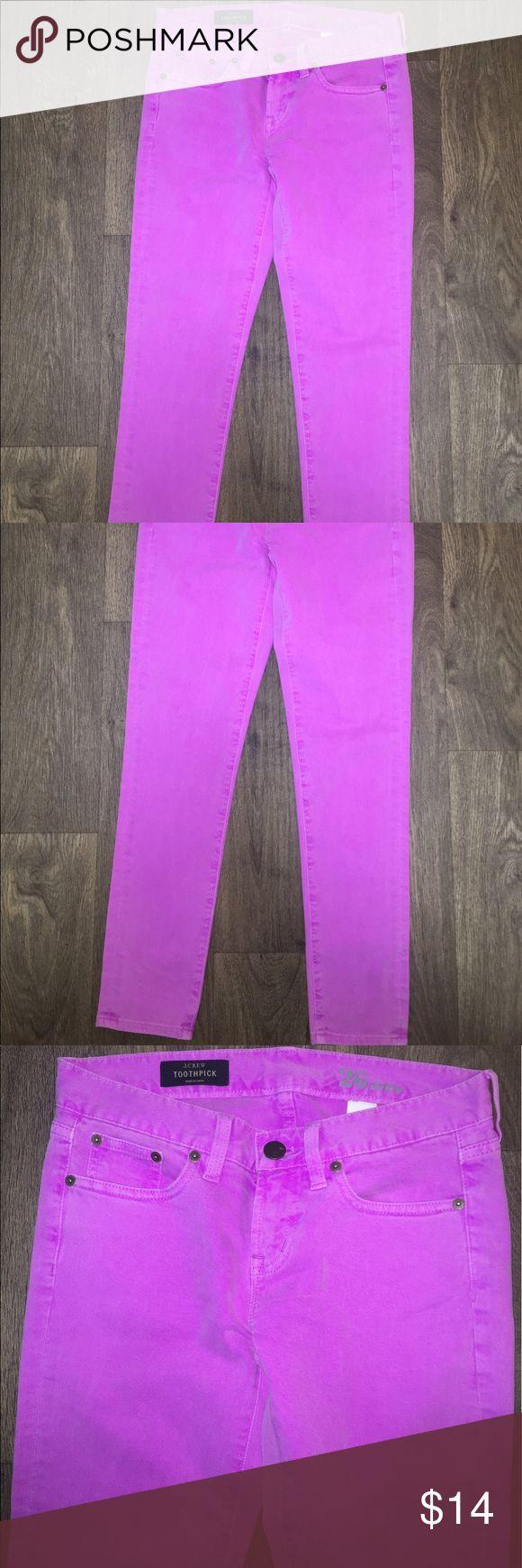 Women's J. Crew Toothpick lavender  Jeans Size 26 Women's J. Crew Toothpick Purple/ Lavender Skinny Jeans Size 26 Ankle. J. Crew Pants Skinny