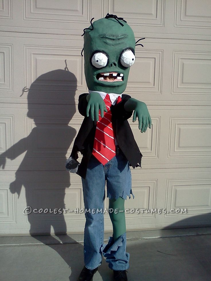 25 best plants vs zombies costumes images on pinterest for Homemade halloween costumes for 10 year olds