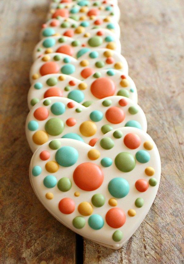 Easy Polka Dot Heart Cookies
