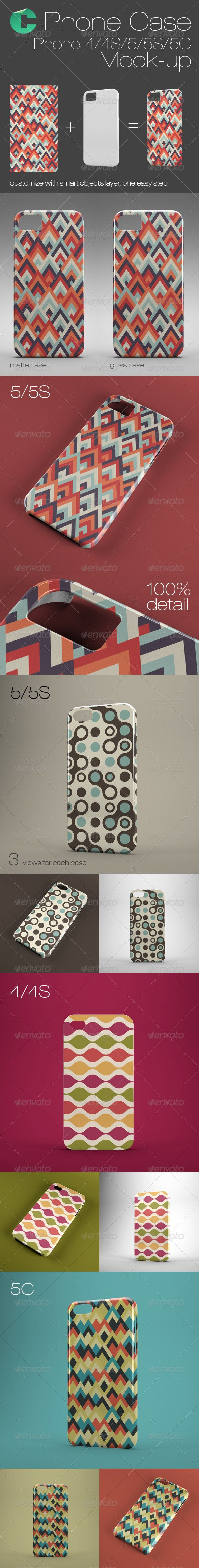Phone Case Mock-Up - Phone 4/4S/5/5S/5C - Mobile Displays