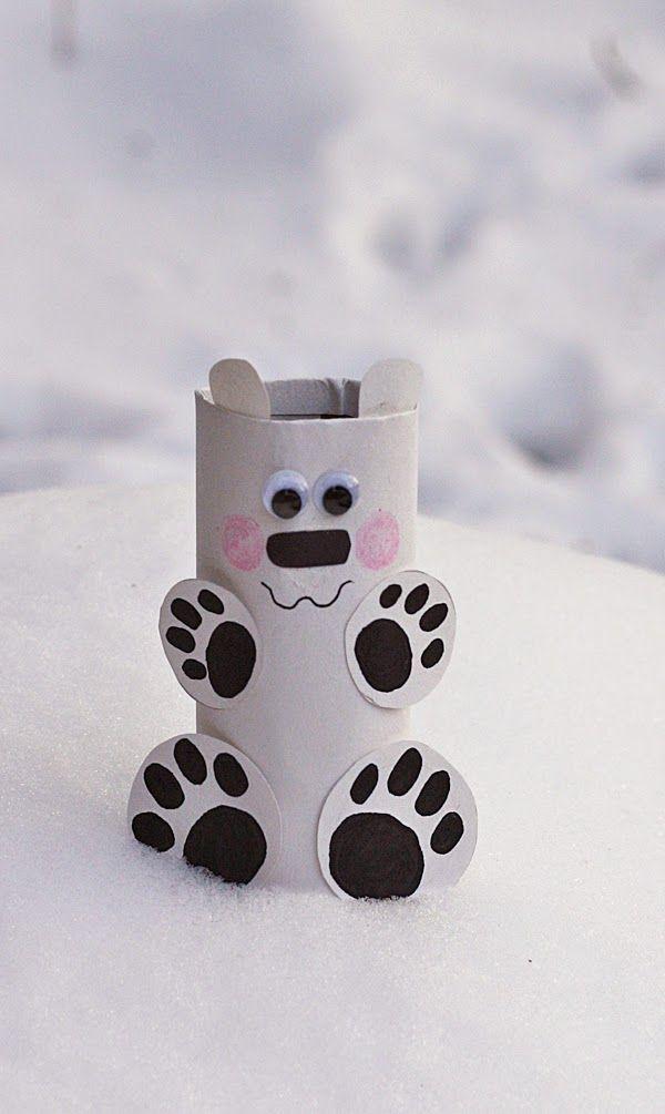 Cardboard Tube litle polar bear step by step!!!