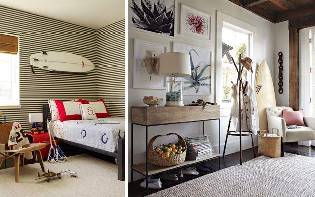 Decofilia blog ideas para decorar con tablas de surf - Tabla surf decoracion ...