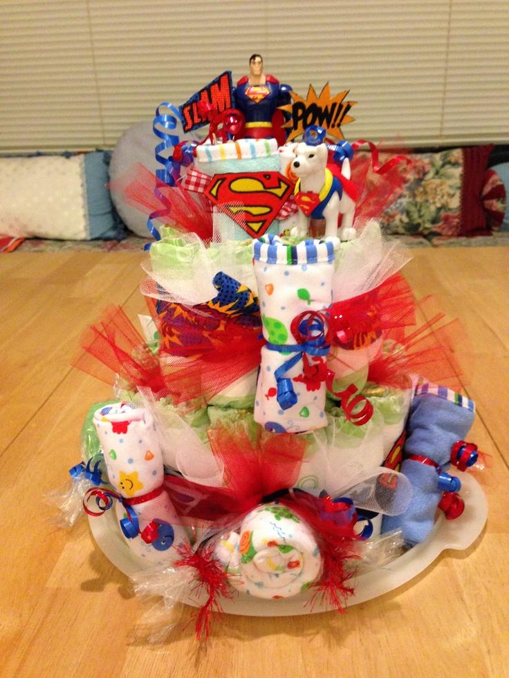 cake more superman diaper cake diaper cakes boy superman diaper cake