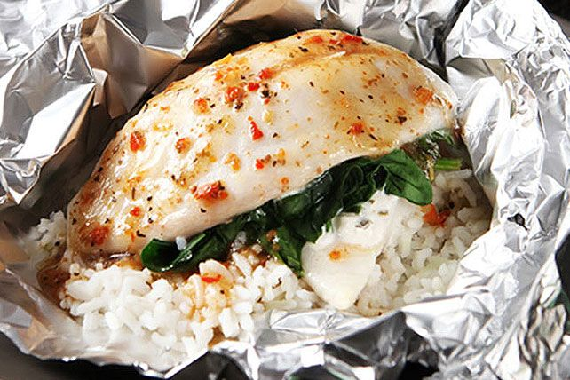 To know foil-pack cooking is to love foil-pack cooking. No fuss, no muss, easy as can be! Try it with this Florentine-style baked fish and see for yourself.