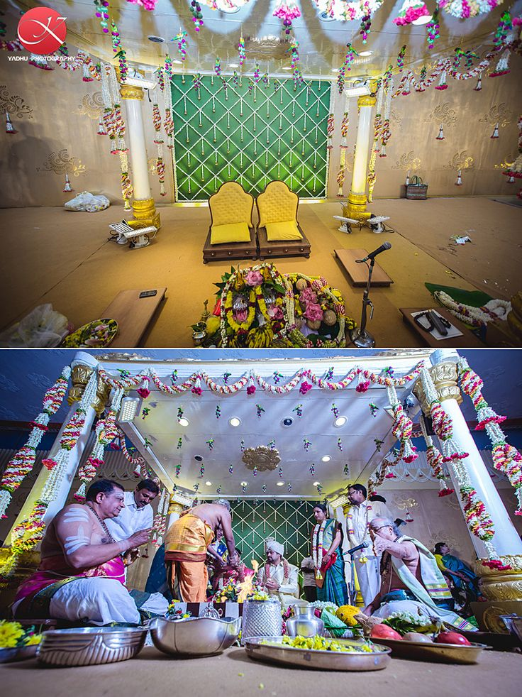Tamil wedding, mandap decor
