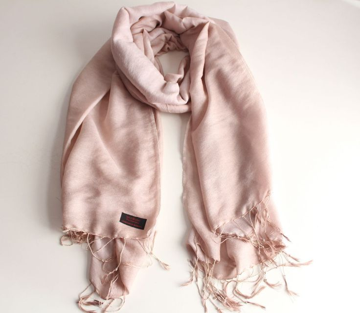 Silky Soft Pale Dogwood Water Pashmina Stole