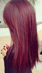 coloration violine coiffeuse domicile lyon - Coloration Prune Exquise