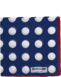 Pañuelo de Bolsillo a Lunares Azul de Duchamp