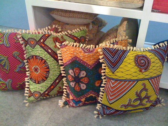 Coussins frangés [#pagne #wax #tissuafricain]