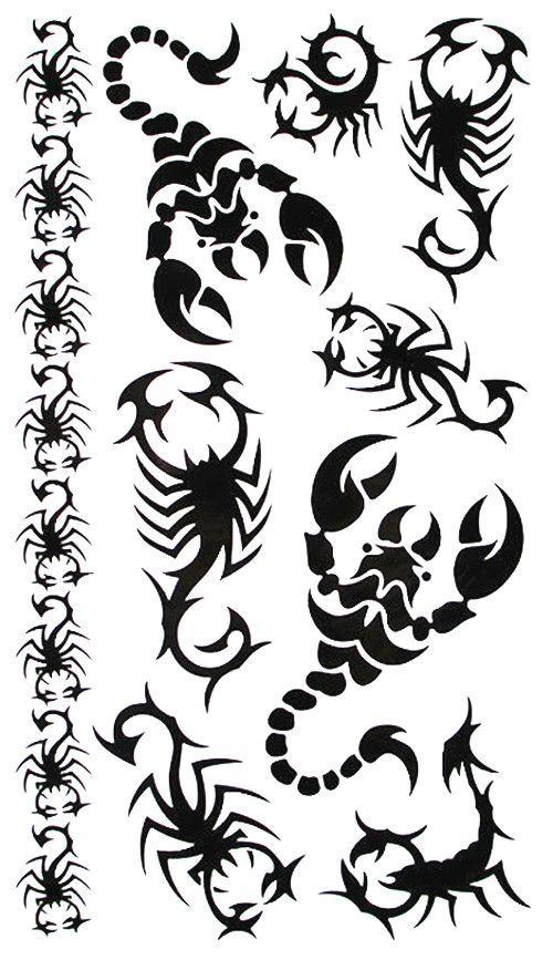Скорпион Тотем Временные Татуировки Боди-Арт Флэш Татуировки Наклейки, 17*10 см Водонепроницаемый Стайлинга Автомобилей Поддельные Татуировки Home Decor Стикер Стены
