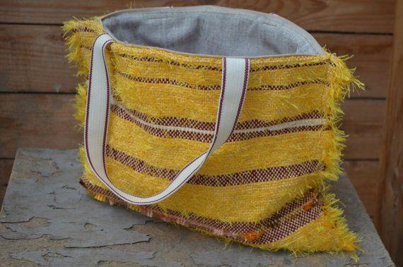 Handwoven handbag tote purse handmade manual loom by rcreativ
