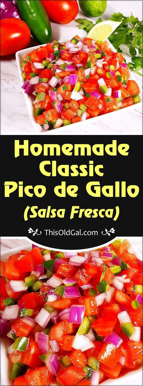 Mexican Homemade Classic Pico de Gallo (Salsa Fresca)