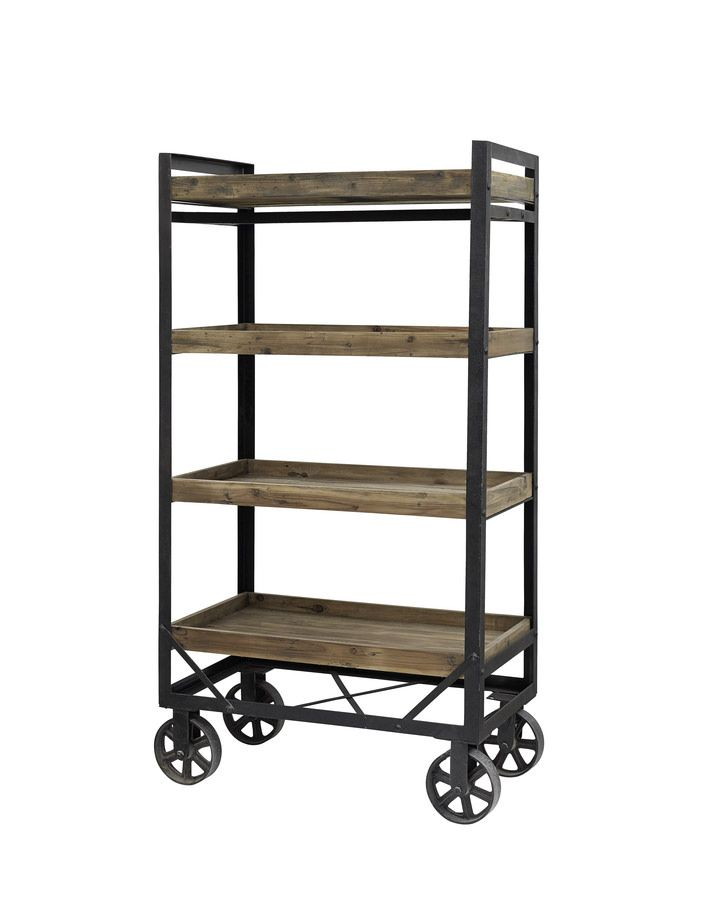 Honk Trolley W. 4 Wooden Boxes