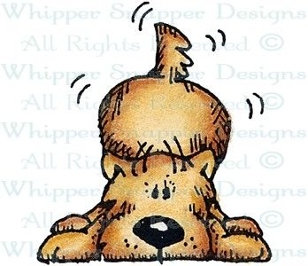 Playful Maloo - Dogs - Animals - Rubber Stamps - Shop