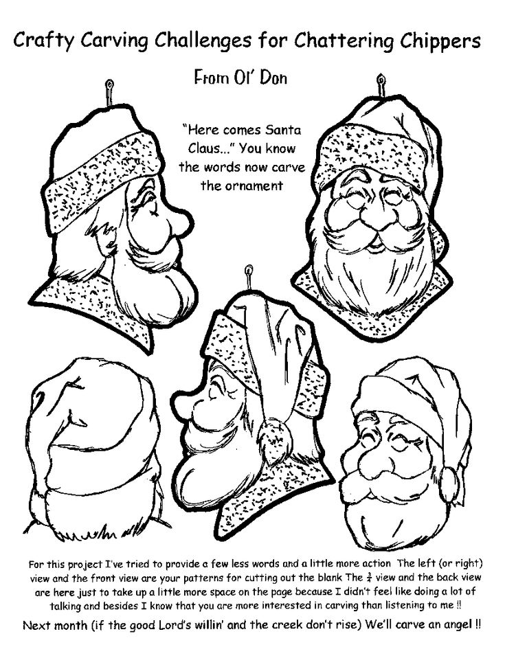Santa wood carving patterns free woodworking projects