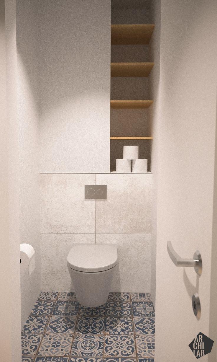 Návrh kúpeľne a toalety - Interiér bytu Dibrovova, Stará Turá - Interiérový dizajn / Bathroom interior by Archilab
