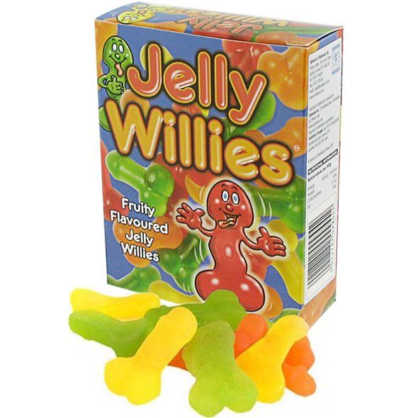 Your candy dish can be a bit more risqué when you fill it with these colorful, tasty gummy candies, featuring the whole package - penis and testicles. Note: we claim no responsibility for the corny puns and comments that may ensue from guests.150 gram