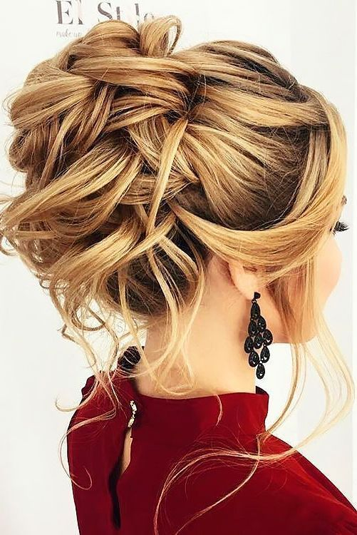 creative + unique updo hairstyless with messy boho elegance