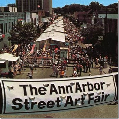 Ann Arbor Art Fair - My mom and I have gone to the Ann Arbor Art Fair every year since I was a little girl.  It has become a tradition.  We both look forward to it every year