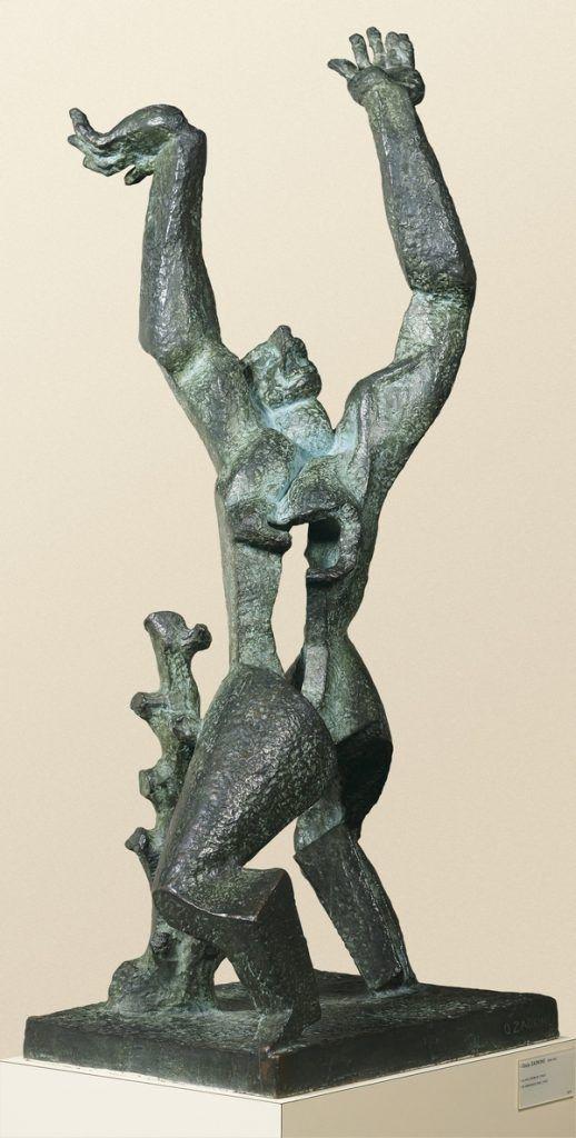 Ossip Zadkine: Destroyed City 1947 Bronze, 128 x 57,5, 5 x 56,5 cm Royal Museums of Fine Arts of Belgium, Brussels. Foto: J. Geleyns © VG Bild-Kunst, Bonn 2016